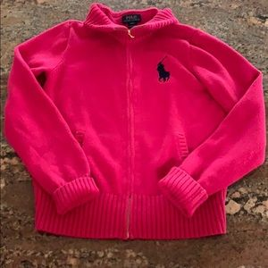 Polo girls pink sweater